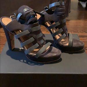Rag & Bone Apollo Sandal - Sz 37.5 Charcoal Suede